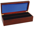Lighthouse Mahogany Wood Storage Box for 50 Certified Coins