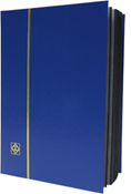 Lighthouse Stockbook with 32 Black Pages - Blue