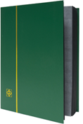 Lighthouse Stockbook with 32 Black Pages - Green