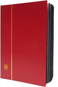 Lighthouse Stockbook with 32 Black Pages - Red