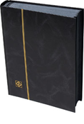 Lighthouse Stockbook with 64 Black Pages - Black