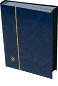 Lighthouse Stockbook with 64 Black Pages - Blue