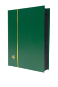 Lighthouse Stockbook with 64 Black Pages - Green