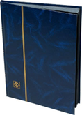Lighthouse Stockbook with 16 Black Pages - Blue