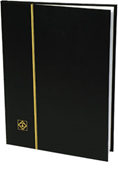 Lighthouse Stockbook with 16 White Pages - Black