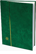 Lighthouse Stockbook with 16 White Pages - Green