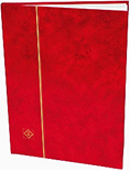 Lighthouse Stockbook with 16 White Pages - Red