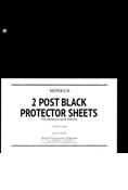 Minkus 2-Post Black Protector Sheets (2-Pack)