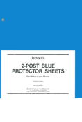 MINKUS: 2-POST BLUE PROTECTOR SHEETS (PACK OF 2)