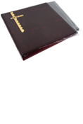 Scott Mint Sheet Binder & 25 Black Pages - Burgundy