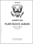 MINKUS: US PLATE BLOCKS VOL. 1 PAGES 1919-1937 (54 PAGES)