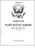 MINKUS: US PLATE BLOCKS VOL. 8 PAGES 1988-1991 (53 PAGES)