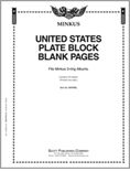 Minkus US Plate Blocks Blank Pages