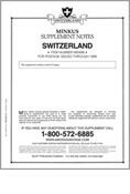 MINKUS: SWITZERLAND 1986 SUPPLEMENT (6 PAGES)