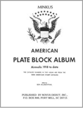 MINKUS: US AIR MAIL PLATE BLOCK ALBUM PAGES THRU 1991 (58 PAGES)