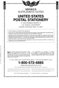 MINKUS: US POSTAL STATIONERY 2005-2007 SUPPLEMENT (4 PAGES)