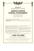 Minkus US Postal Stationery 2017