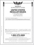 MINKUS: US REGULAR ISSUES 2012 (9 PAGES)