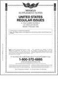 MINKUS: US REGULAR ISSUES 1986 SUPPLEMENT (5 PAGES)