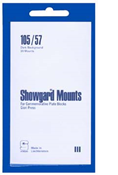Showgard 57x105 Stamp Mounts - Black
