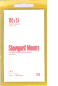 Showgard 57x105 Stamp Mounts - Clear