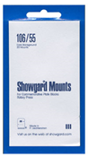 Showgard 55x106 Stamp Mounts - Black