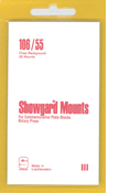 Showgard 55x106 Stamp Mounts - Clear