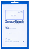 Showgard 94x165 Stamp Mounts - Black