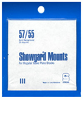 Showgard 55x57 Stamp Mounts - Black