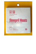 Showgard 55x57 Stamp Mounts - Clear