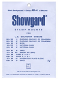 Showgard US Souvenir Sheets (thru 1975) Stamp Mounts - Black