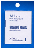 Showgard 31x41 Stamp Mounts - Black