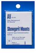Showgard 41x31 Stamp Mounts - Black
