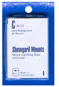 Showgard 31x50 Stamp Mounts - Black