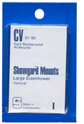 Showgard 50x31 Stamp Mounts - Clear