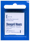 Showgard 25x22 Stamp Mounts - Black