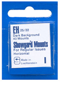 Showgard 22x25 Stamp Mounts - Black