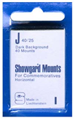 Showgard 25x40 Stamp Mounts - Black