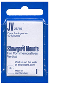 Showgard 40x25 Stamp Mounts - Black