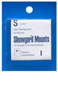 Showgard 31x31 Stamp Mounts - Black