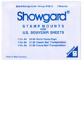 Showgard World Stamp Expo Souvenir Sheets Stamp Mounts - Black