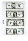 Supersafe 4-Pocket Currency Page