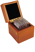Mahogany Wood Storage Box - 5 Certified Slabs