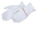 White Cotton Lisle Heavyweight Gloves (Dozen Pairs)
