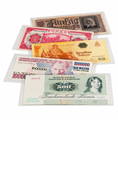Clear Currency Sleeve - Fractional / Modern Notes (Pack of 50)
